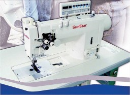 The KM-1750/1751A Double needle lockstitch machine from SunStar, is specially required for tape and wire attaching operations